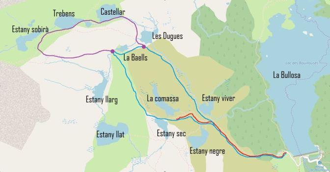 mapa amb noms de llacs