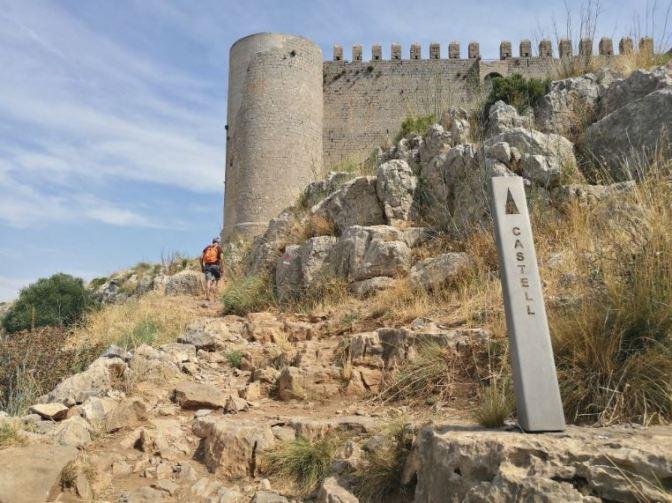 arribada al castell